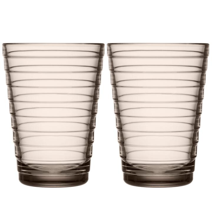 Aino Aalto Longdrink glass 33 cl from Iittala in linen (set of 2)