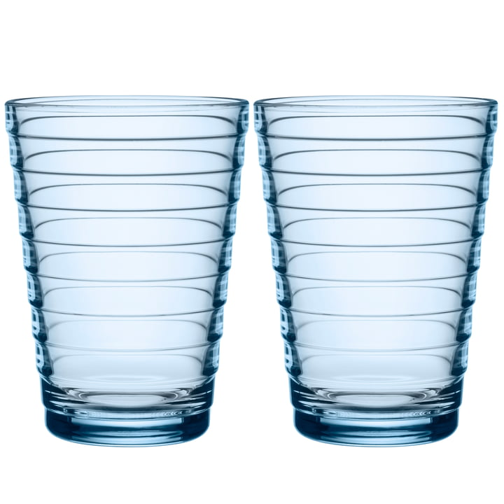Aino Aalto Longdrink glass 33 cl from Iittala in aqua (set of 2)