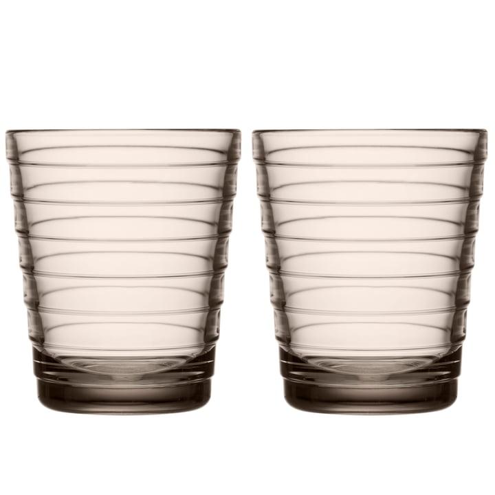 Aino Aalto Glass mug 22 cl from Iittala in linen (set of 2)