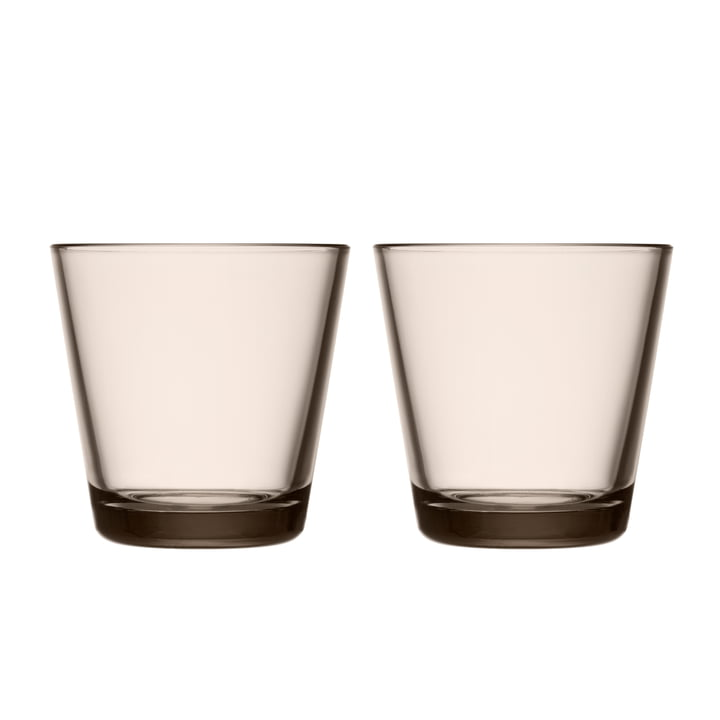 Kartio Drinking glass 21 cl from Iittala in linen (set of 2)