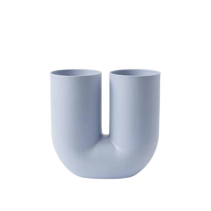 Kink Vase by Muuto in light blue