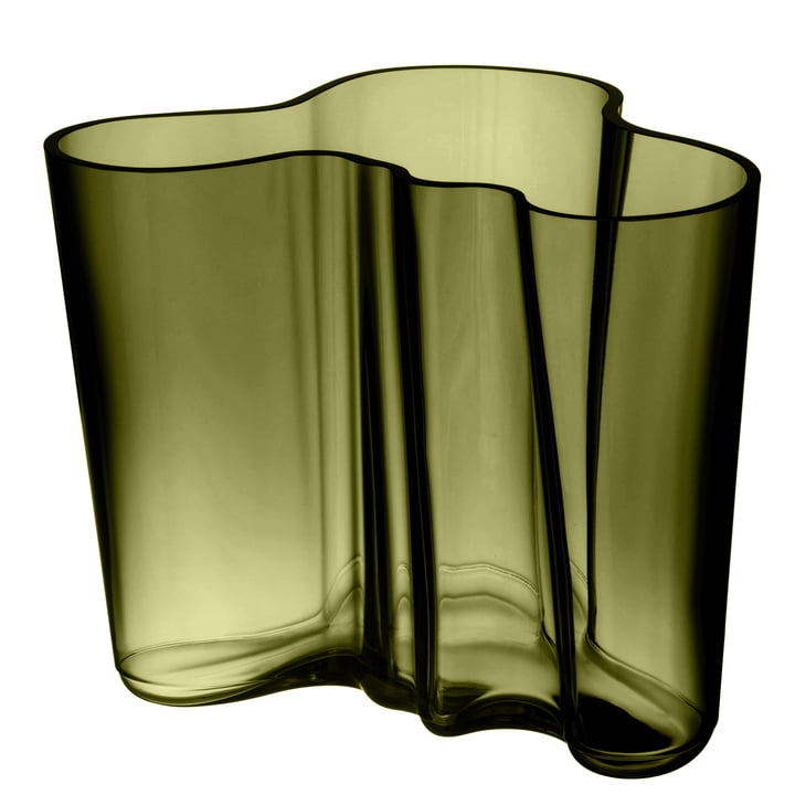 Aalto Vase Savoy 160 mm from Iittala in moss green