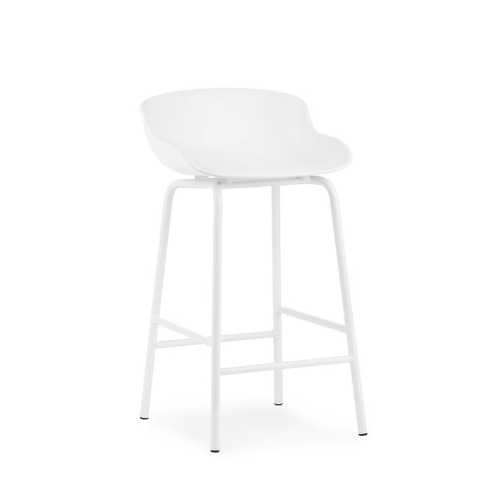 Hyg bar stool H 65 cm from Normann Copenhagen in white