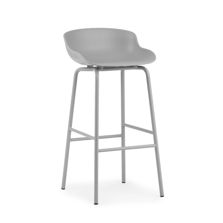 Hyg Bar stool H 75 cm from Normann Copenhagen in grey