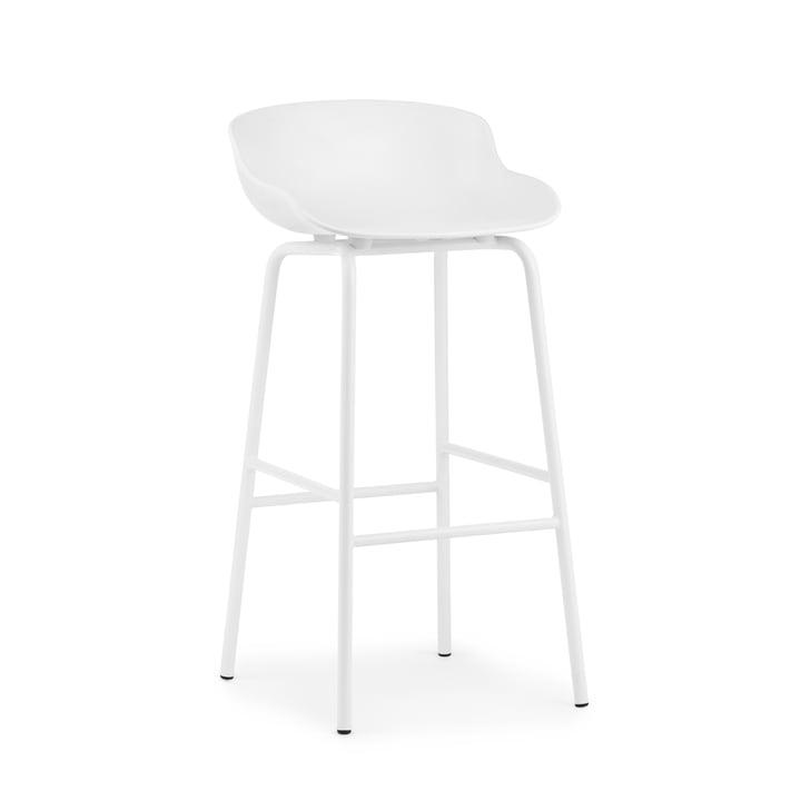 Hyg Bar stool H 75 cm from Normann Copenhagen in white