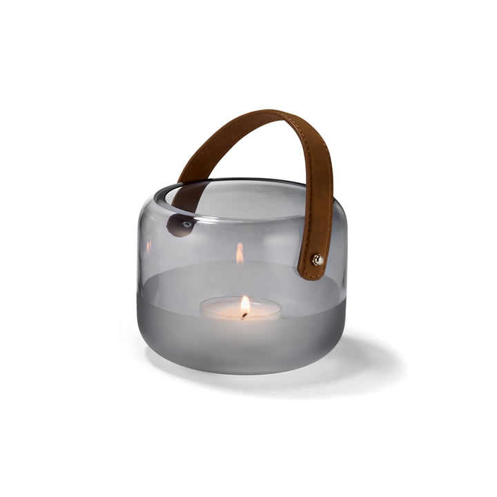 Marlon lantern Ø 15 x H 12 cm from Philippi in clear / brown