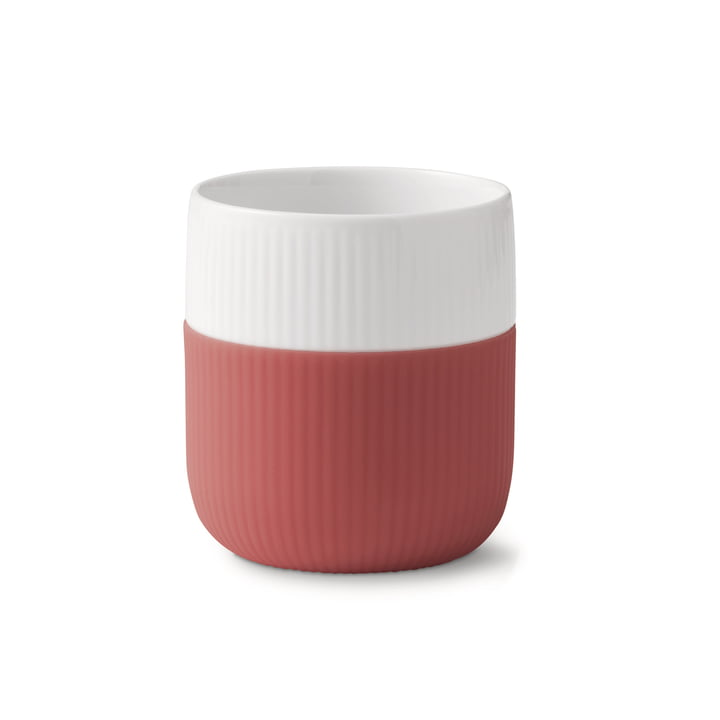 Fluted Contrast cup ribbed 33 cl from Royal Copenhagen in blush