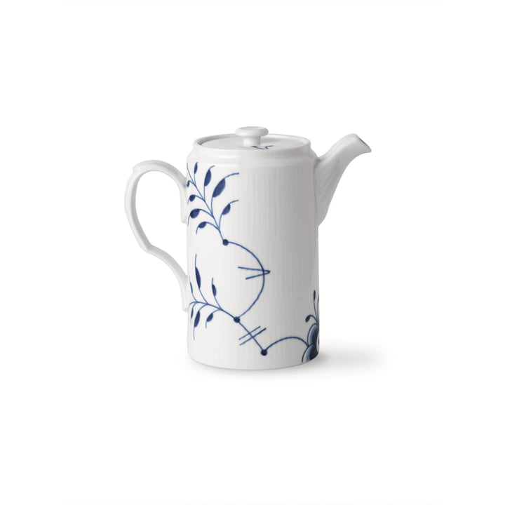 Mega Blue Ribbed jug with lid 1.1 l of Royal Copenhagen