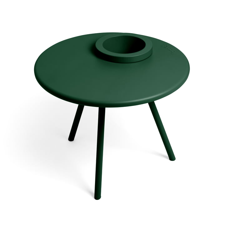 The Bakkes side table from Fatboy in emerald green