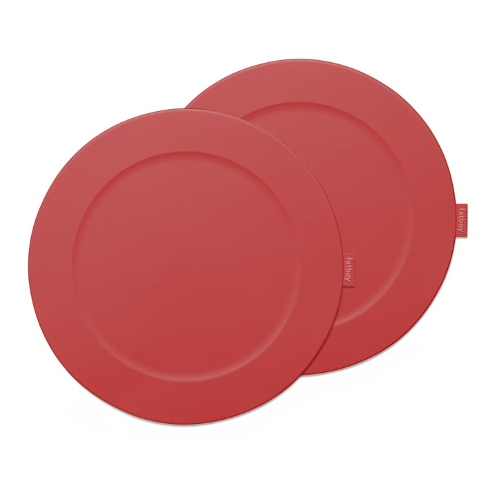 Place-we-met place mat Fatboy in the colour industrial red