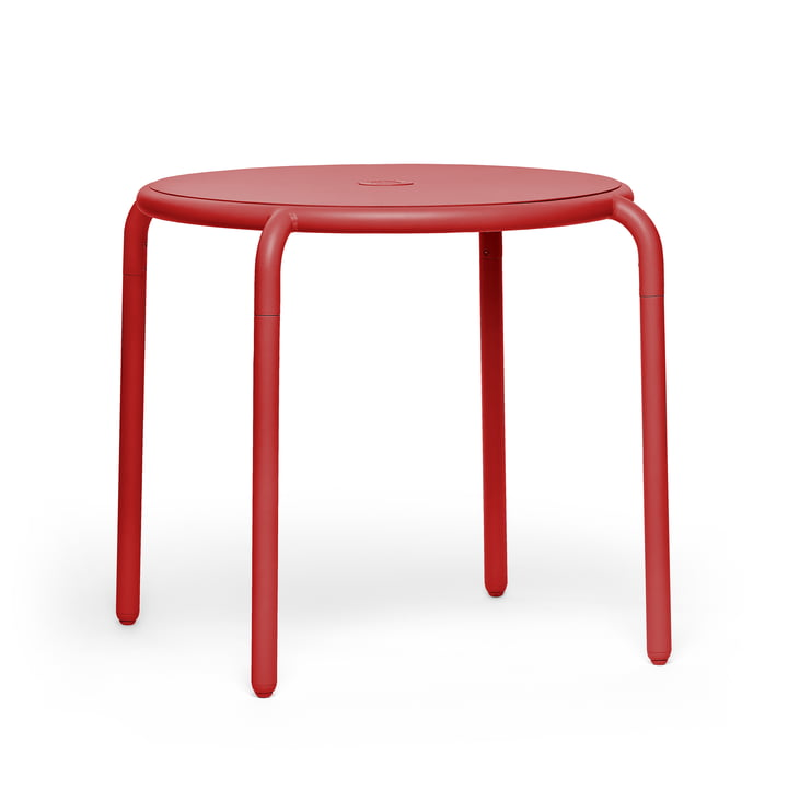 The Toní bistro table from Fatboy in the version industrial red