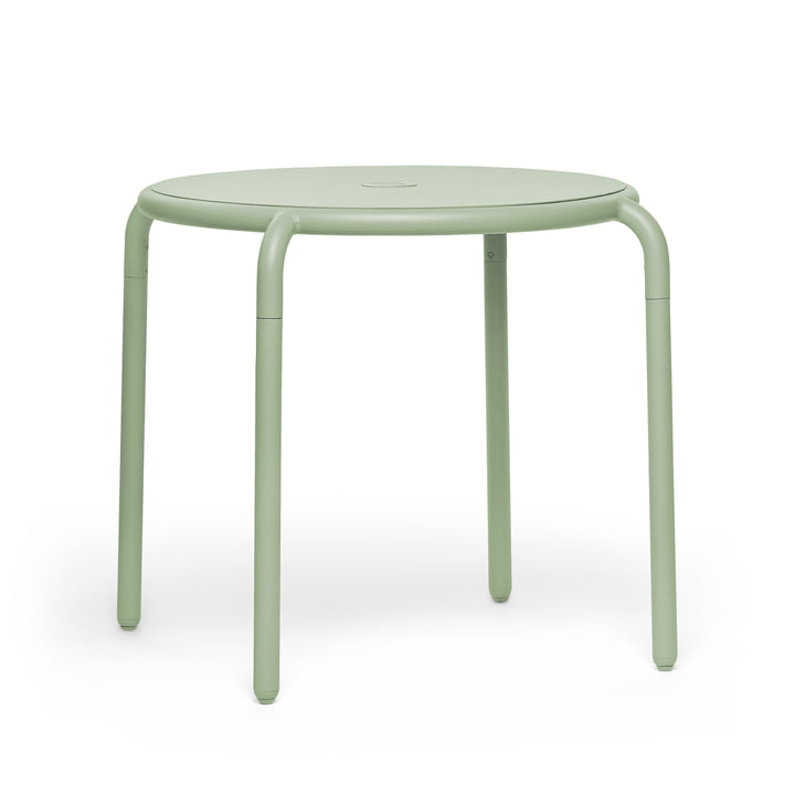The Toní bistro table from Fatboy in the mist green version.