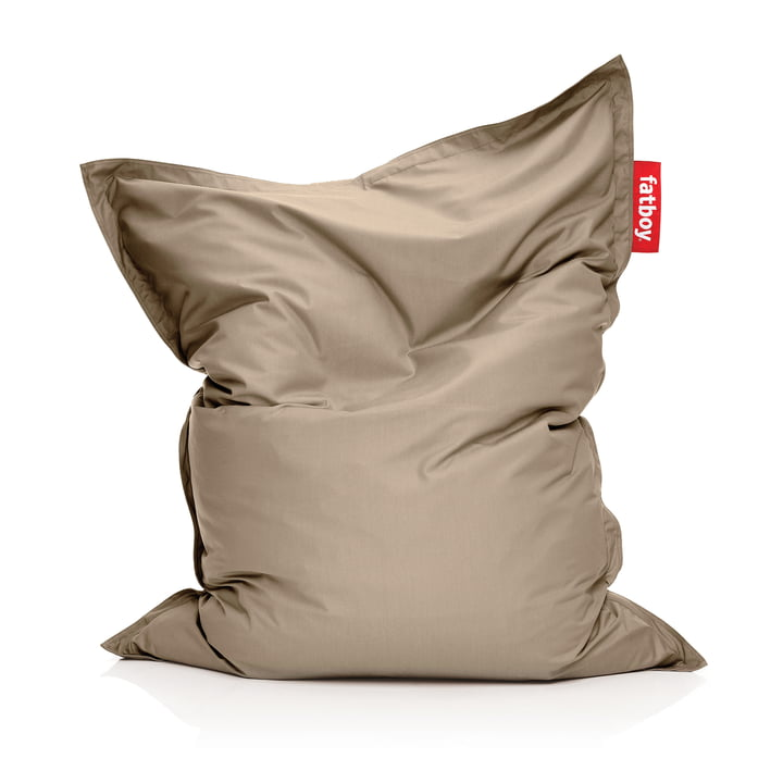 Original Outdoor Beanbag from Fatboy in the colour sandy taupe