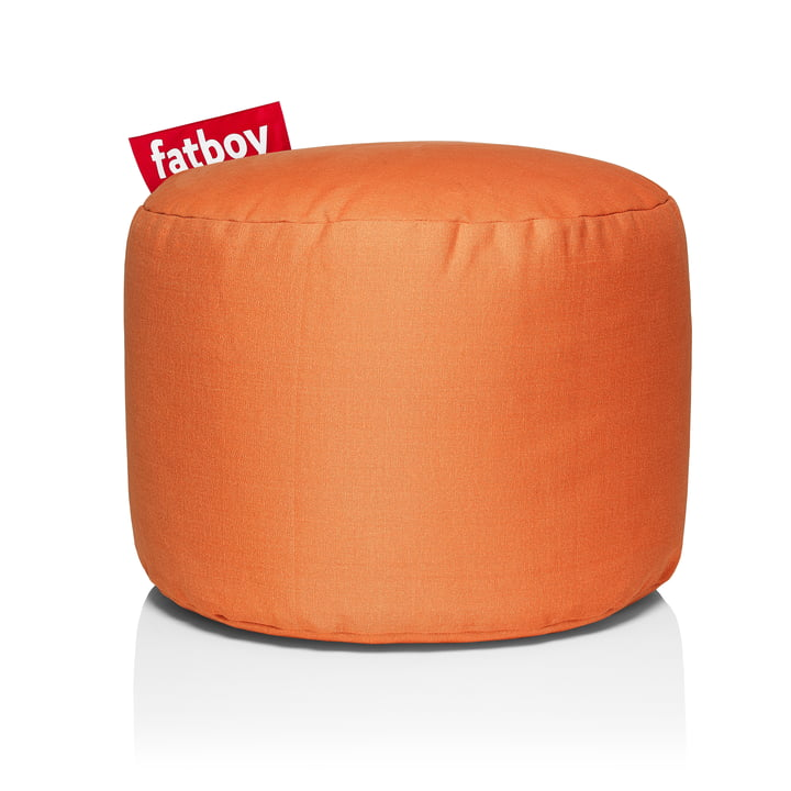 Point Stonewashed stool from Fatboy in orange