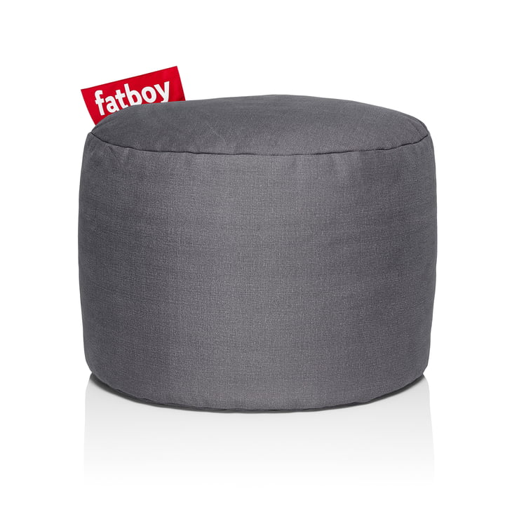 Point Stonewashed stool from Fatboy in grey