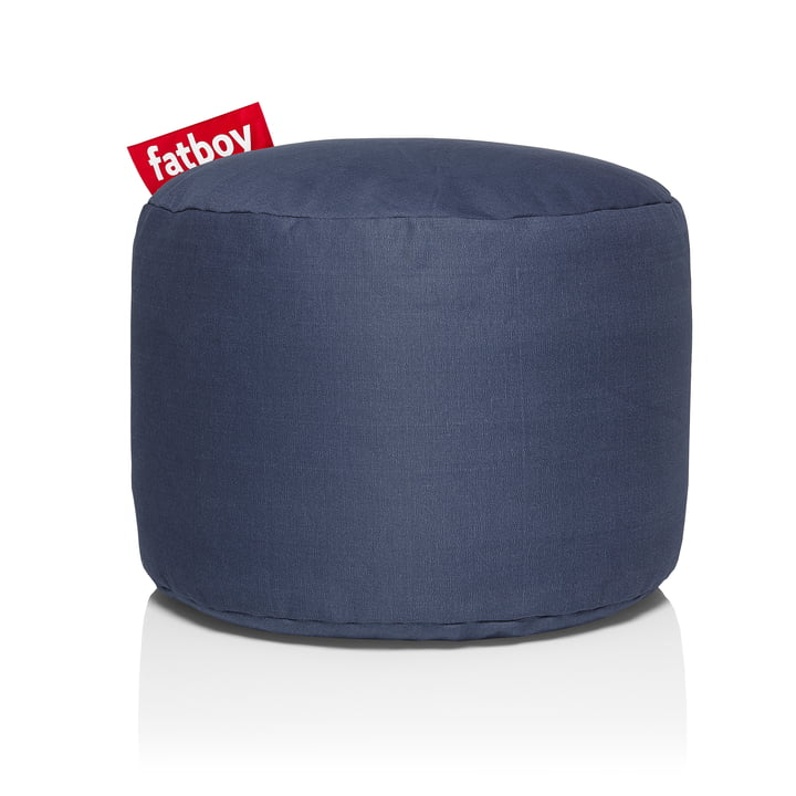Point Stonewashed stool from Fatboy in blue