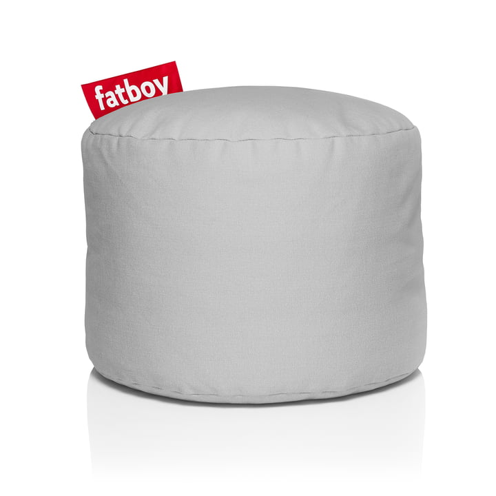 Point Stonewashed stool from Fatboy in silver grey