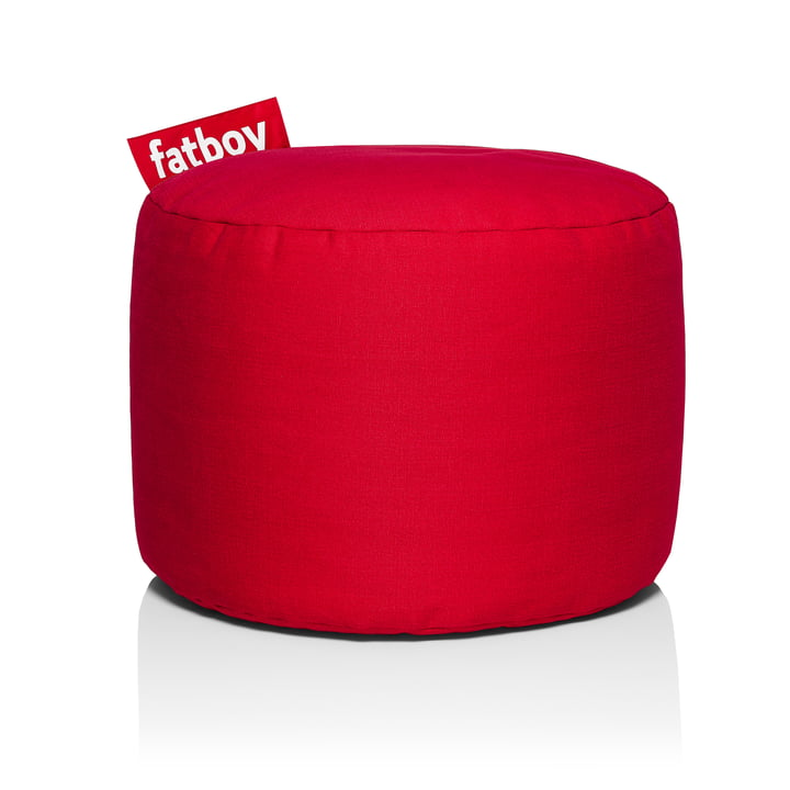 Point Stonewashed stool from Fatboy in red