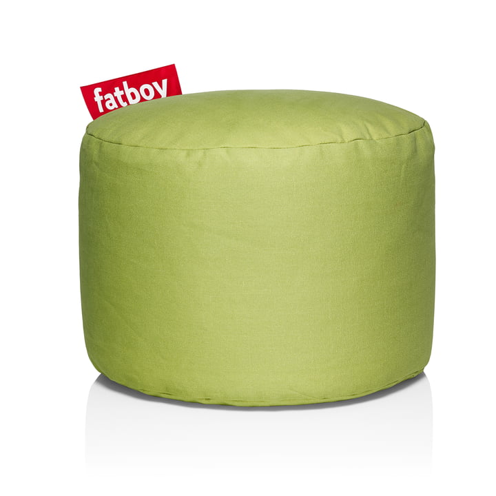 Point Stonewashed stool from Fatboy in lime green