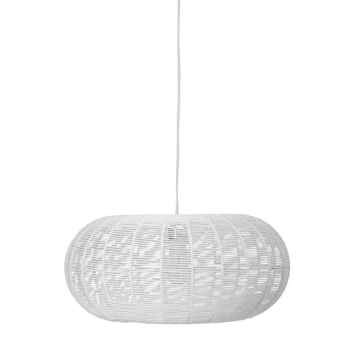 Paper pendant lamp, Ø 50 x H 23 cm from Bloomingville in white