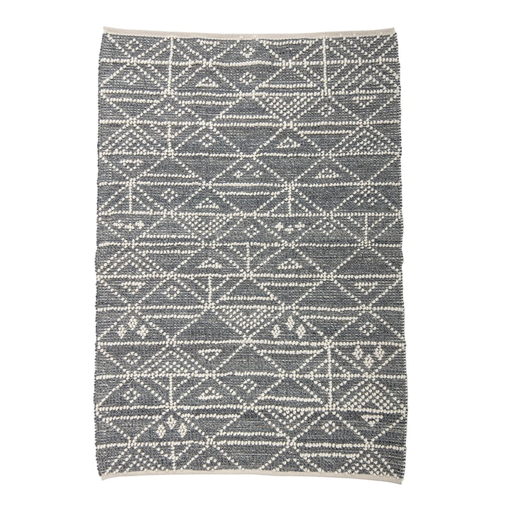Wool carpet with the dimensions 180 x 120 cm from Bloomingville in grey