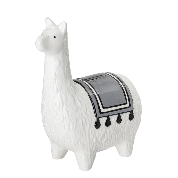 Money box alpaca H 18 cm from Bloomingville in white