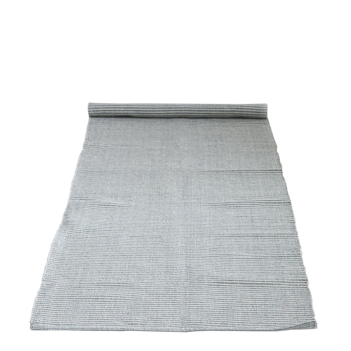 Carpet with pattern 240 x 75 cm from Bloomingville in grey
