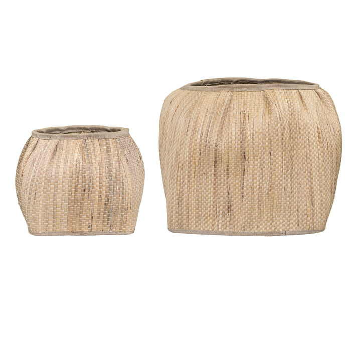 Storage basket water hyacinth (set of 2) from Bloomingville in round nature
