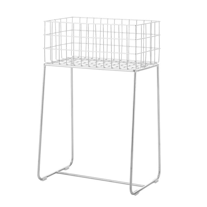 Deer storage basket H 75 cm from Bloomingville in silver
