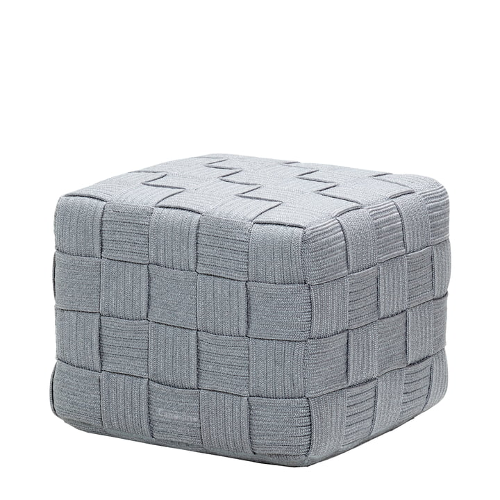 Cube Stool from Cane-line in light grey