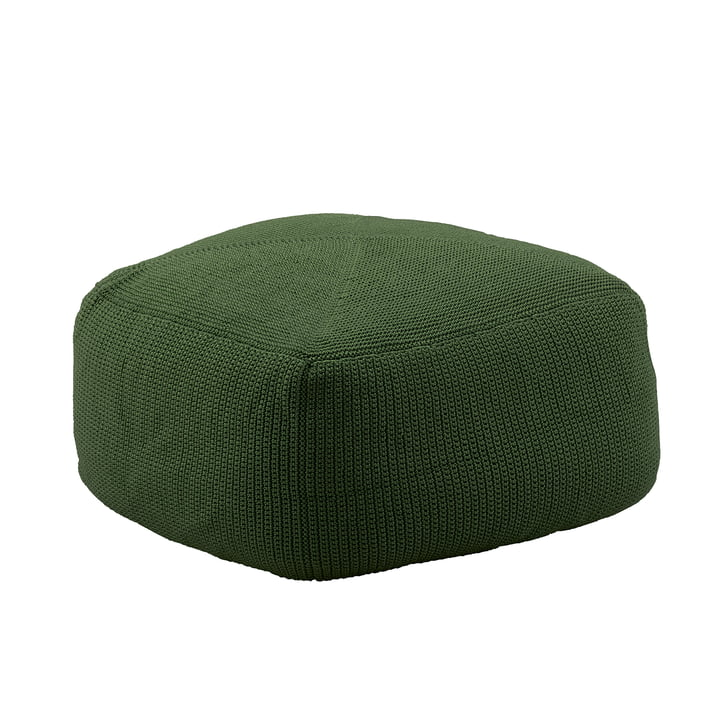 Divine Stool from Cane-line in dark green in the product detail view