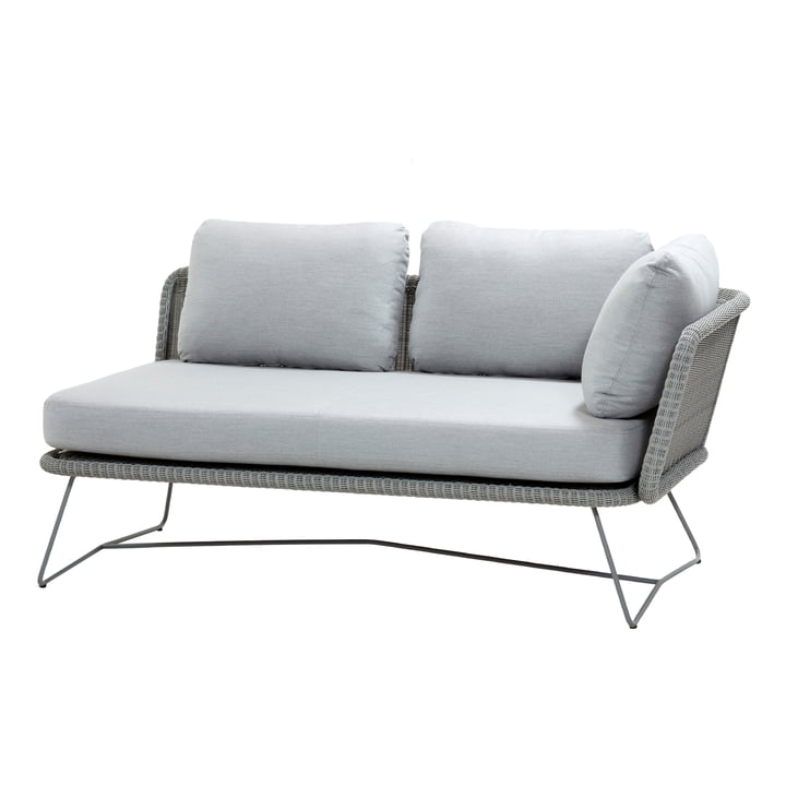 Horizon Module sofa 2-seater left, light grey from Cane-line
