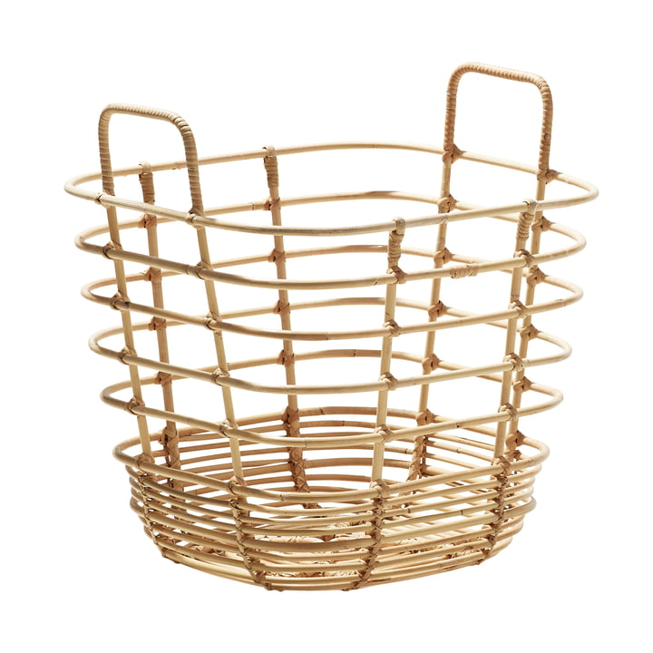 Sweep basket square 42 x 42 cm, natural from Cane-line