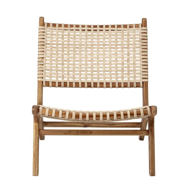 Keila Lounge Chair by Bloomingville in Teak / Rattan