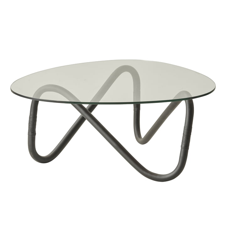 Wave coffee table, black from Cane-line