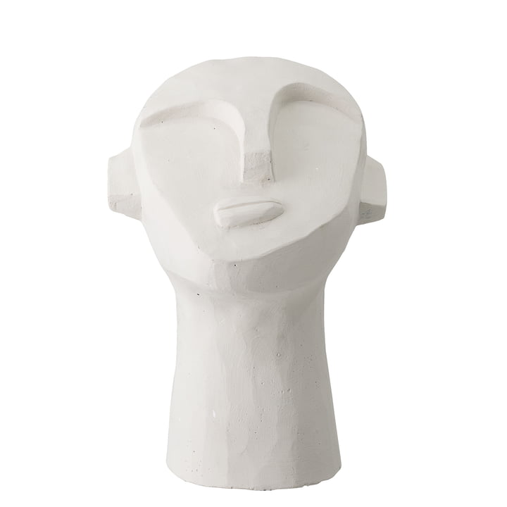 head sculpture abstract H 22 cm from Bloomingville in concrete white