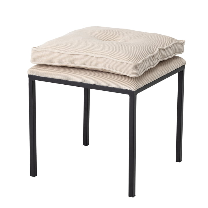 Tammy stool with cushion from Bloomingville in black / beige