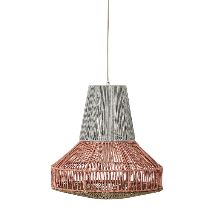 Cotton pendant lamp Ø 45 x H 45 cm from Bloomingville in grey / red
