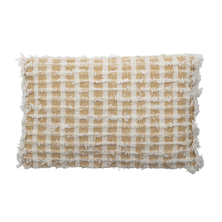 Cushion with fringes 55 x 35 cm from Bloomingville in yellow