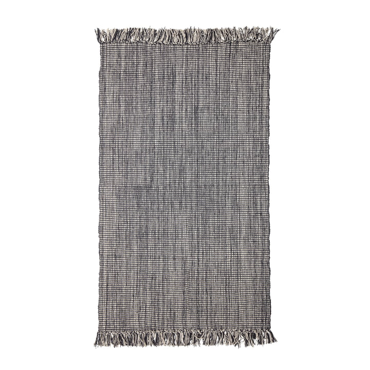 Carpet with fringes 150 x 90 cm from Bloomingville in grey