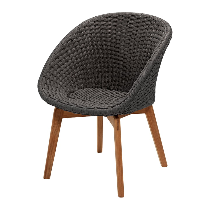 Peacock Armchair, teak / dark grey from Cane-line