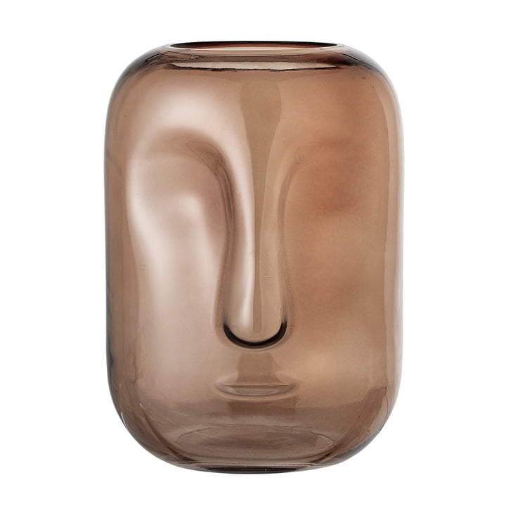 Vase with glass face from Bloomingville in brown