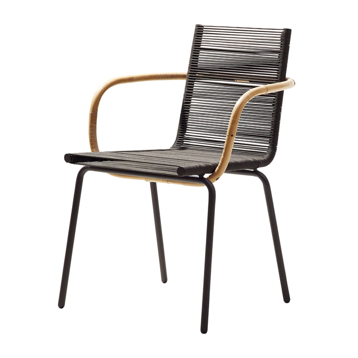 Sidd Armchair, brown by Cane-line