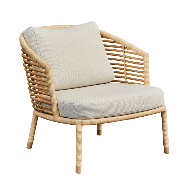 Sense Lounge chair, natural / off-white from Cane-line