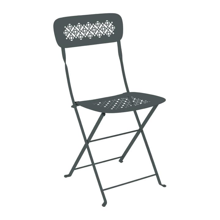 Lorette Folding chair, thundery grey by Fermob