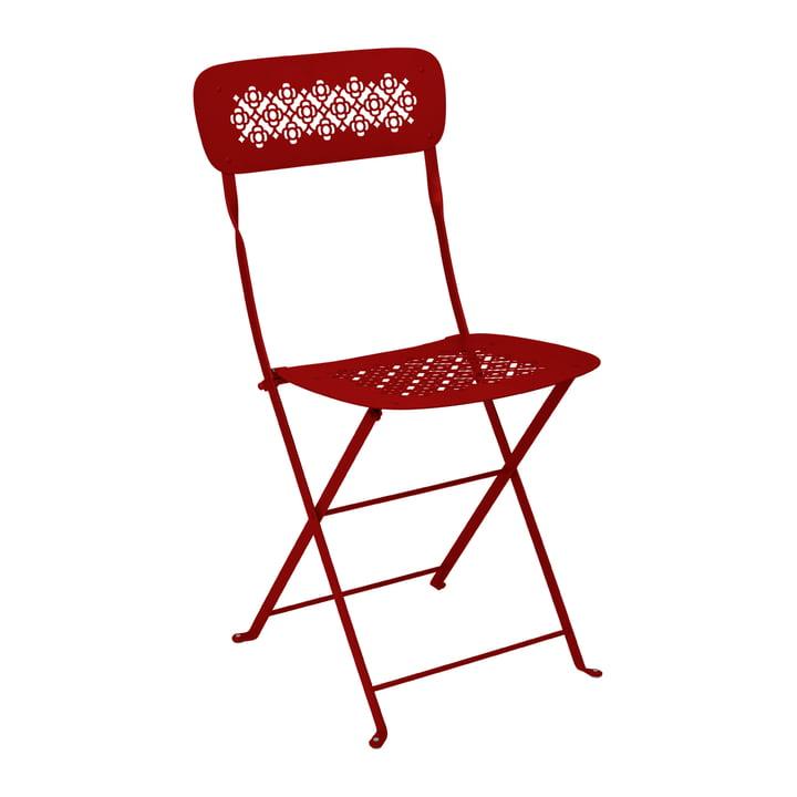 Lorette Folding chair, poppy red by Fermob