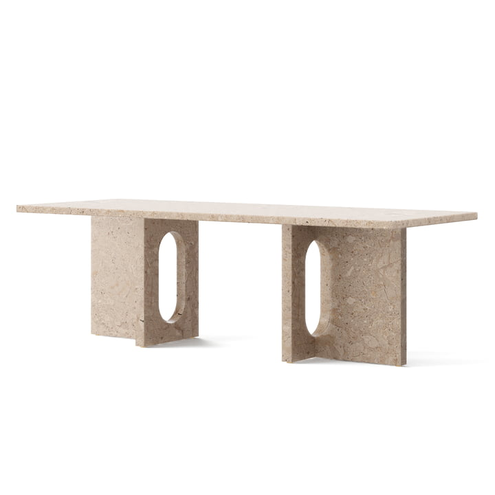 Androgynous Lounge Table, 120 x 45 cm, sand from Menu