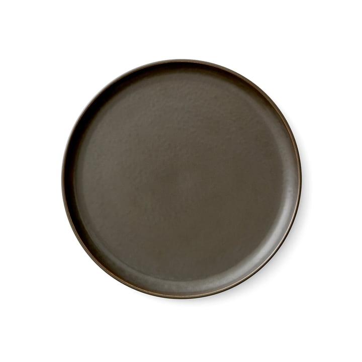Menu - New Norm plate Ø 23 cm, dark glazed