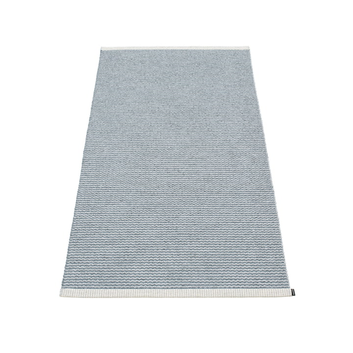 Mono carpet 85 x 160 cm from Pappelina in stormblau / light grey