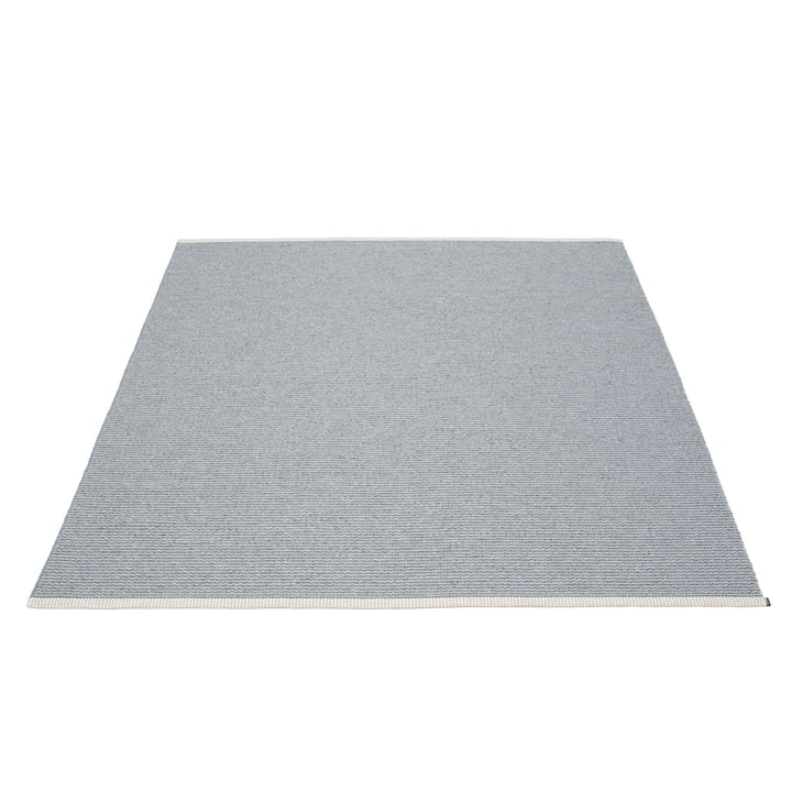 Mono carpet 180 x 220 cm from Pappelina in storm blue / light grey